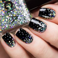NCLA Hollywood Hills Hot Number over NCLA Back to Black ♥ By Anastasiya (u_nona) #livelovepolish