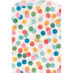 These cute paper bags are the perfect size for party treats and favors. Colorful confetti-like polka dots create a festive look. Seal with a