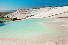 Travertine pools and terraces, Pamukkale, Turkey Pamukkale, Turkey Travel, Beautiful Places To Visit, Travel Guides, The Outsiders, Places To Go, Around The Worlds, River, Beach