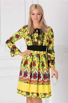 Rochii cu Imprimeuri Dresses With Sleeves, Long Sleeve, Floral, Fashion, Vestidos, Women, Moda, Sleeve Dresses, Long Dress Patterns