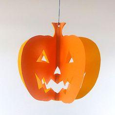 ジャック・オ・ランタン かぼちゃ モビール型紙素材 ハロウィン