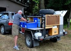 Ed and Lorraine's Gear Hauler Trailer ~ I need him to build me one of these. slp