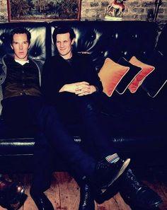Benedict Cumberbatch and Matt Smith.