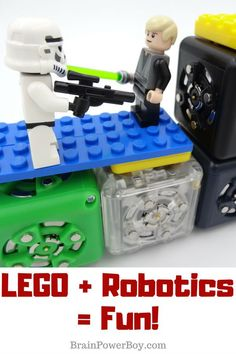 I found a really cool robotics kit that lets you combine LEGO and their blocks. You have to see this! (ad Home Science Tools.) #LEGO #robotics