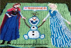 Disney Frozen Anna Elsa and Olaf Quilt by awwwwwwberry on Etsy, $500.00