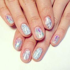 Pastel geometric nail art. #manicure #nails #nailart