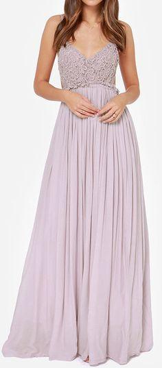 Dusty lavender maxi dress