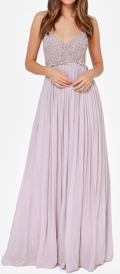 Dusty lavender maxi dress