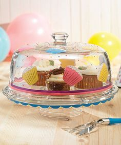 Take a look at this Jay Import Cupcake Pedestal Cake Plate & Dome Lid by Jay Import on #zulily today!