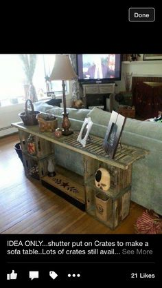 DIY Simple Wood Crate Side Table | For The Home | Pinterest | Turquoise, Side  Tables And I Love