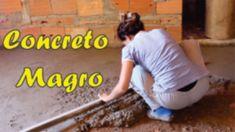 Concreto Magro para preparação de contra piso / Faça você mesmo / DIY