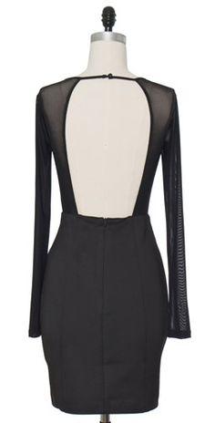 Triangle Mesh Black Dress