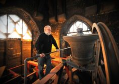 Bell ringing at St Peter Mancroft Church, Norwich, where the 300th anniversary of the first true peal will be celebrated during 2015. Steeple keeper Peter Sawyer with the bells. Picture by Simon Finlay, Eastern Daily Press