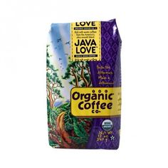 """Java Love Whole Bean Coffee www.theteelieblog.com An exotic and syrupy blend of Indonesian and Latin American coffees. These coffee beans have been certified """"USDA Organic"""" by OCIA. This means they're grown without chemical fertilizers, pesticides, or herbicides. Please note that while all Rogers Coffee is Responsibly Grown on bio-diverse shade-grown farms, our Organic Coffee Co. brand features only coffee whose farms that have specifically become organic certified. #thrivemarket"""