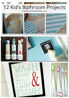 Splish Splash: 12 Kids Bathroom Projects -- Use these great projects for a little more #HelpAroundTheHouse!