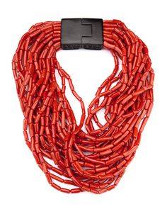 patricia von musulin. red italian coral necklace. love.