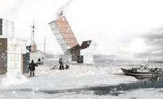 Idea sostenible: Nodos de recolección de alimento y red logística en Iqaluit, Canadá (Holcim Awards Oro 2011 para Norteamérica). El Arctic Food Network propone nodos regionales de recolección de alimento y una red logística en el territorio del alto ártico de Canadá para las comunidades Inuit.