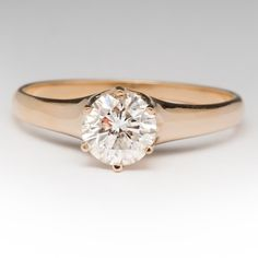 .80 Carat Round Brilliant Diamond Solitaire Ring 14K