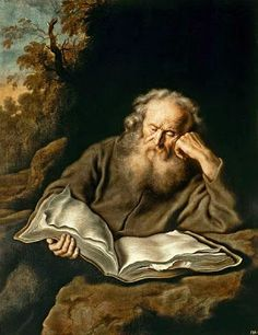 Reading hermit, 1643 by Salomon Koninck born 1609 in Amsterdam, Netherlands buried August 8, 1658 in Amsterdam, Netherlands