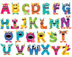 Alpha Monster ABC Boy / Monster Letters cute monsters
