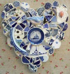 Recycle broken plates.