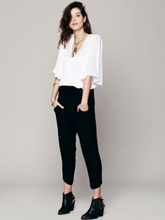 Free People Got Me Twisted Solid Harem Pant, $68.00