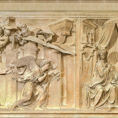 Il 25 Marzo celebriamo l'ANNUNCIAZIONE del Signore con la bellissima opera di #AndreaSansovino (1513-27), del Rivestimento Marmoreo della Santa Casa. #ArcangeloGabriele apparve a Maria per annunciarLe la nascita di #Gesù. La ricorrenza è particolarmente sentita al #SantuariodiLoreto, in quanto custodisce la preziosa reliquia della #SantaCasa nazaretana della #Madonna, la casa dove Ella ricevette l'annuncio angelico. #Loreto #marcheaspiritualroute #papaFrancesco 