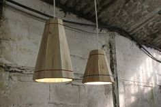 Palette Wood pendant lights.  About $60 each on Berry's Etsy Shop or FactoryTwentyOne