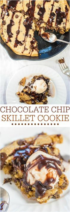 Chocolate Chip Skillet Cookie - Need a fast, easy, goofproof chocolate chip cookie recipe? This is the one!! Soft, chewy, and oh so good!!