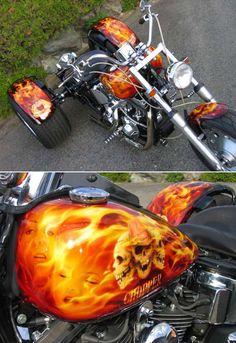 Airbrushed trike2 by Tomohiro