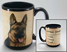 Faithful Friends German Shepherd Dog Breed Coffee Mug