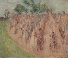 EDOUARD VUILLARD (1868-1940) La vigne à Villeneuve-sur-Yonne (Painted circa 1897 - 1899)