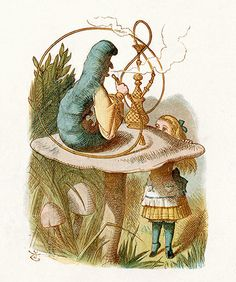 Illustrations: The Blue Caterpillar, from Lewis Carroll's Alice in Wonderland