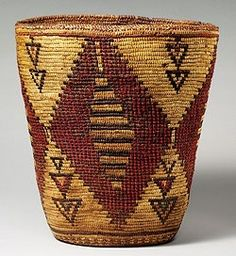 Carrying basket, attributed to Klikitat tribe,Washington State (Late Nineteenth or Early Twentieth Century)