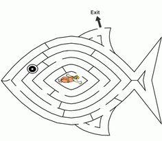 Jonah in a symbolic maze/ labyrinth