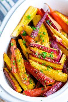 Glazed Rainbow Carrots from Abby! @aberdeengielow YUM