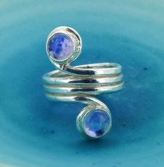 Double moonstone ring marycolyer.com