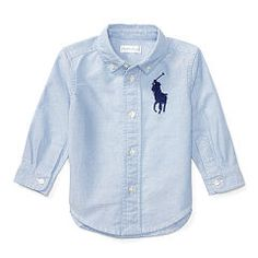 Big Pony Cotton Oxford Shirt - Baby Boy Button Downs & Bow Ties - RalphLauren.com