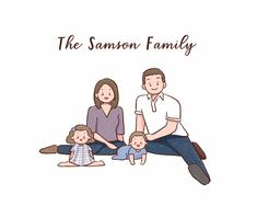 Excited to share this item from my shop: Custom family portrait/ Digital portrait/ Custom illustration/ Birthday gift/ Gift for her/ Digital family drawing/ Gift ideas/ Anniversary Large Family Poses, Family Picture Poses, Fall Family Photos, Family Posing, Family Pictures, Family Portrait Drawing, Family Drawing, Family Portraits, Doodle Drawings