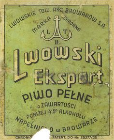 i believe this is an old Polish beer label. there's more treasures where this came from!
