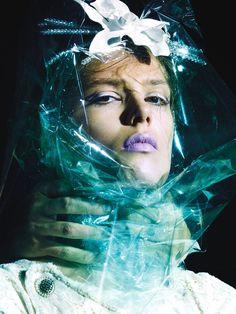Caroline Brasch Nielsen by Greg Kadel for Numero November 2013 | The Fashionography
