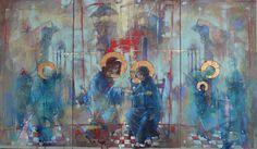 "Waclaw Sporski ""Glad Tidings"" Triptych: 100х70, 100х50, 100х50 Oil On Canvas sporskiart.com"