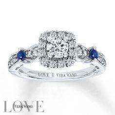 Vera Wang LOVE 3/4 Carat tw Diamonds 14K White Gold Ring