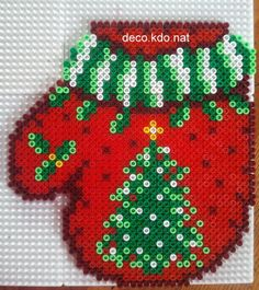 Christmas ornament hama perler beads by deco.kdo.nat