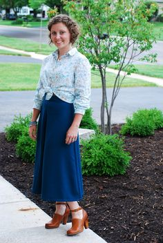 Grainline Studios Archer blouse and vintage Butterick See&Sew 5076