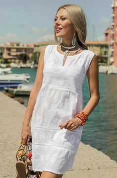 Mode Tutorial and Ideas Simple Dresses, Casual Dresses, Fashion Dresses, Fashion Clothes, Boho Outfits, Summer Outfits, Summer Dresses, Linen Dresses, Cotton Dresses