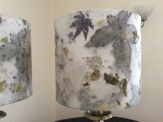 Ecoprinted lampshades. F. Balding
