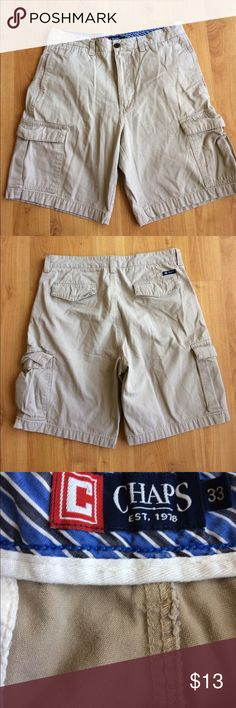 Chaps Khaki Shorts Mens Khaki Shorts. Excellent Condition! Size 33 Chaps Shorts Cargo
