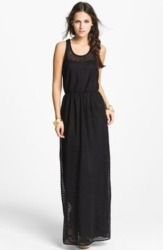 Way-In Zigzag Crochet Maxi Dress (Juniors) available at #Nordstrom