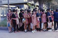 Teenage schoolgirls in Nonthaburi 1971